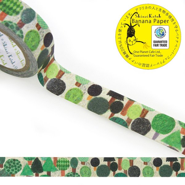Forest 森 Banana Paper Washi Tape Shinzi Katoh Design