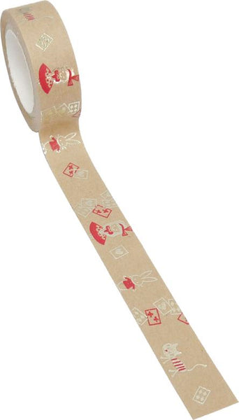 Alice in Wonderland, Late Rabbit, Playing Card and Cat Masking Tape.
