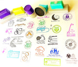 Custom Pre-inked Stamp which you can personalized with your texts, your kids's drawing, signature or your business logo, proudly made in Houston.