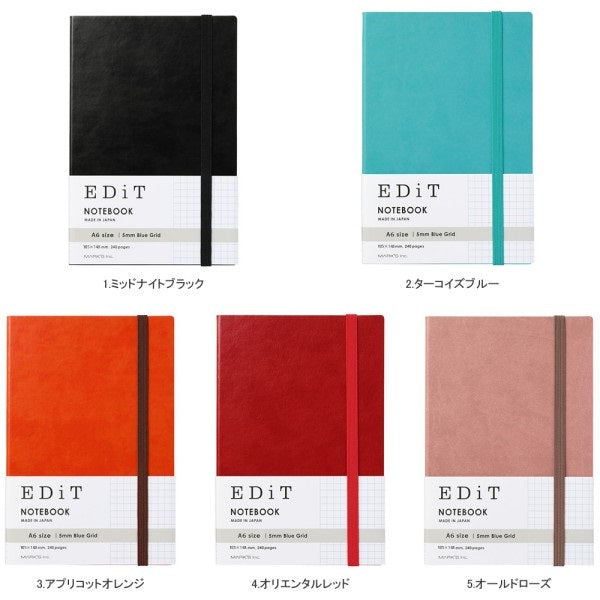 A6 EDiT Grid Notebook
