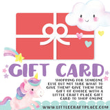 Gift Card for Online Store littlecraftplace.com
