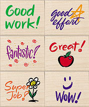 Stamps for Students Rubber Stamp Set