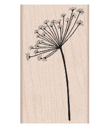 dandelion flower rubber stamp
