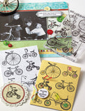 Three Bikes Stamp Set