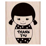 Thank You Girl Kokeshi Stamp