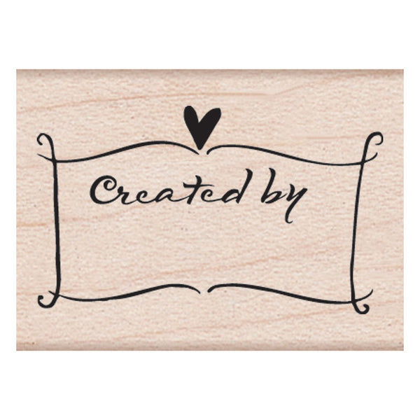 Created By Banner Hero Arts Mounted Rubber Stamp