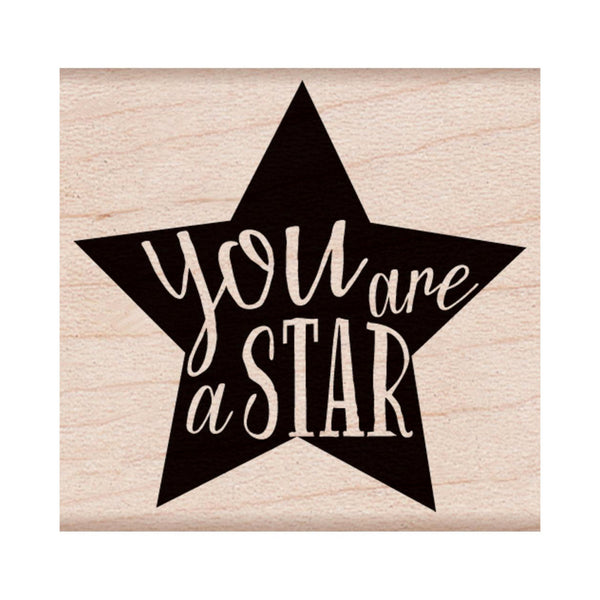You Are A Star Rubber Stamp