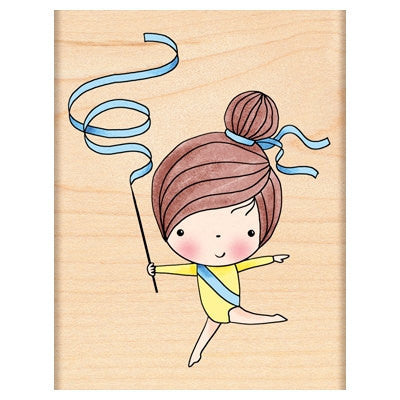 Gymnast Mimi Rubber Stamp