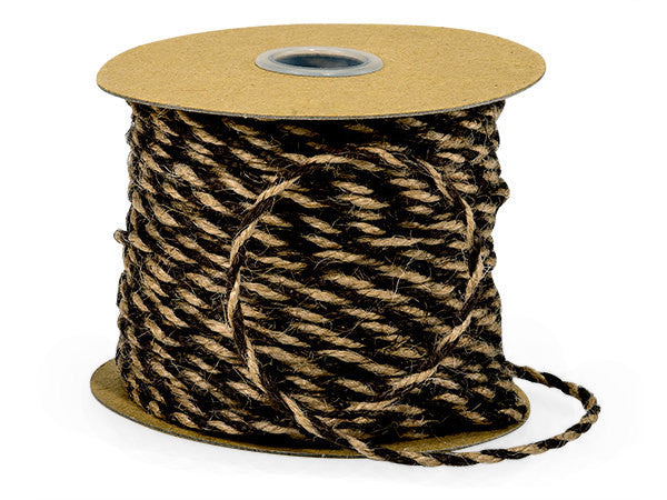 Black & Natural Burlap Twine (50 Yards)