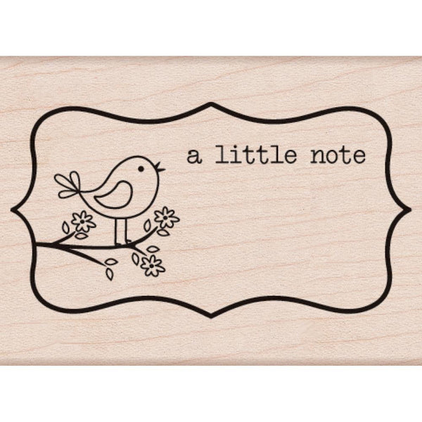 A little Note Hero Arts Mounted Rubber Stamp