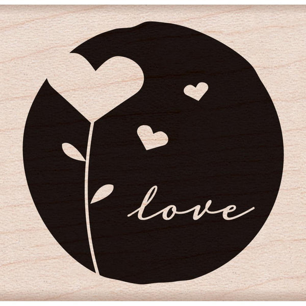 Flower Hearts Hero Arts Mounted Rubber Stamp