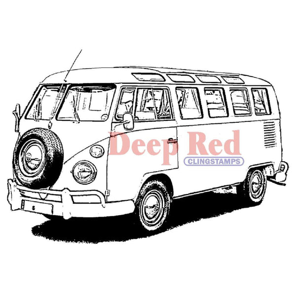 Volkswagen Bus Rubber Stamp