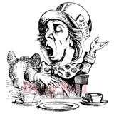 Mad Hatter Tea Party Rubber Stamp
