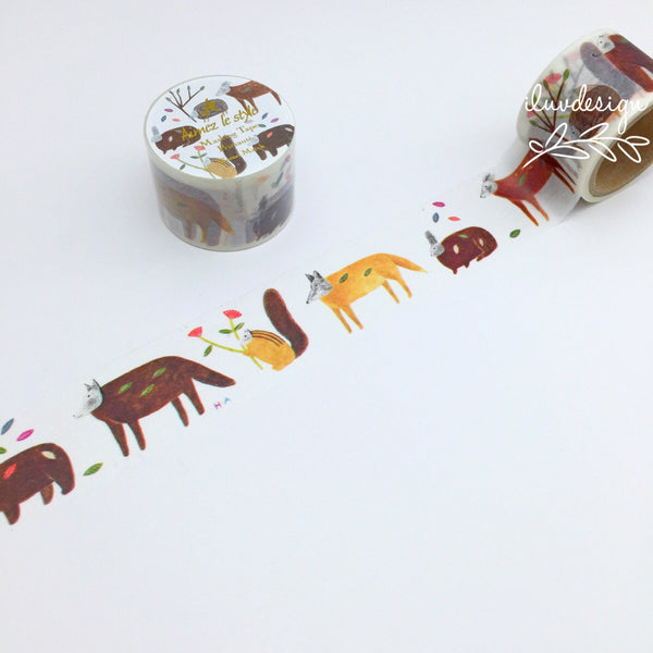 Forest March Japanese Washi Tape Aimez