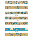 Carriage Foil Masking Tape • Shinzi Katoh Design Japanese Washi Tape