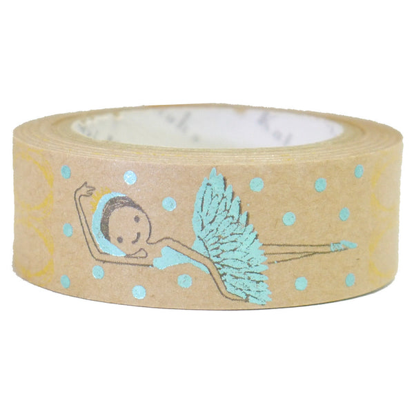 Ballet Swan Lake Kraft Paper Foil Masking Tape • Shinzi Katoh Design Japanese Washi Tape