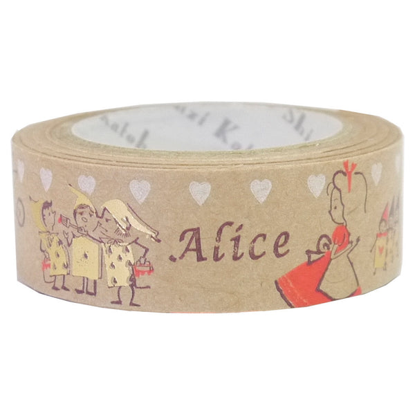 Pretty Alice Kraft Paper Foil Masking Tape • Shinzi Katoh Design Japanese Washi Tape