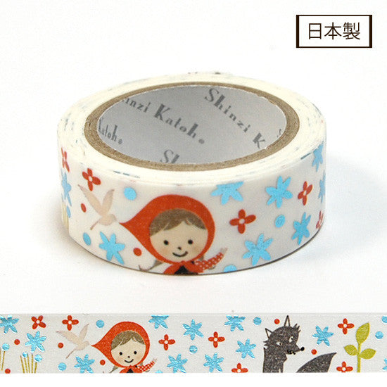 Precious Red Hood 2 Foil Masking Tape • Shinzi Katoh Design Japanese Washi Tape