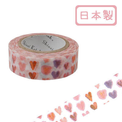 Heart 1 Masking Tape • Shinzi Katoh Design Japanese Washi Tape