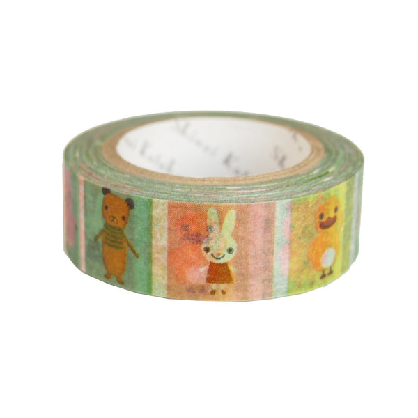 Animal Friends Masking Tape • Shinzi Katoh Design Japanese Washi Tape