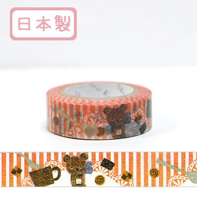 Flossy Bear Masking Tape • Shinzi Katoh Design Japanese Washi Tape