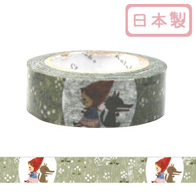 Red Riding Hood Masking Tape • Shinzi Katoh Design Japanese Washi Tape