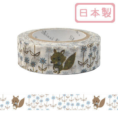 Big Bad Wolf Alpine Meadow Masking Tape • Shinzi Katoh Design Japanese Washi Tape