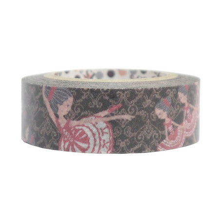 Ballerina Damask Washi Tape • Shinzi Katoh Design Japanese Masking Tape