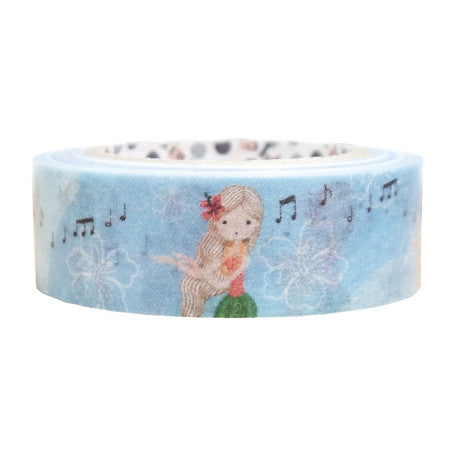 Hula Girl Dancing Washi Tape • Shinzi Katoh Design Japanese Masking Tape