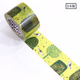 Green Forest Washi Tape Bird and Tree • Shinzi Katoh Design