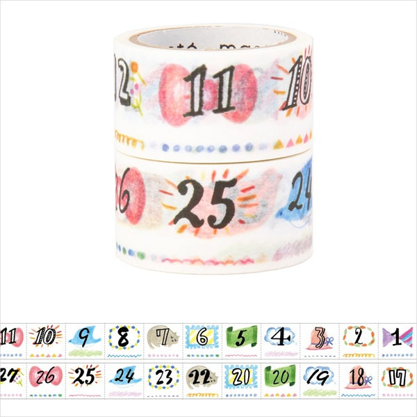 Maste Perforated Washi Tape for Diary Hand-Drawn Illustration Date