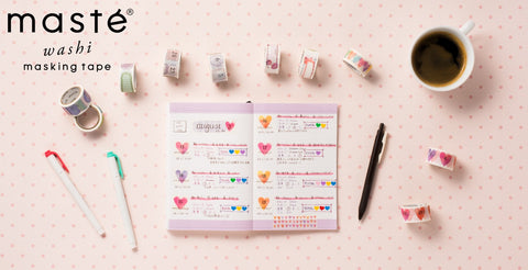 Maste Perforated Washi Tape for Diary  Date Hand-Drawn Monochrome