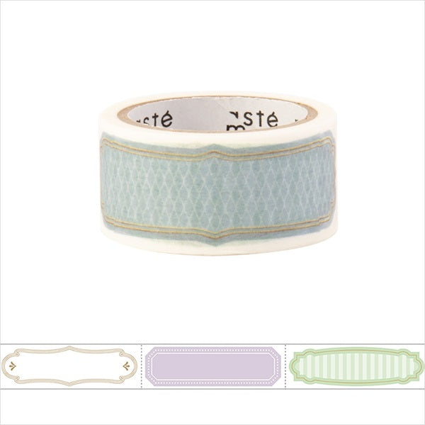 Simple Title Masté Washi Tape for Journal. Use this easy-to-write-on washi tape to add decorative dates to your journal, planner and notebook. Unlike typical washi tape, this tape can be written on with ordinary water-based pens.