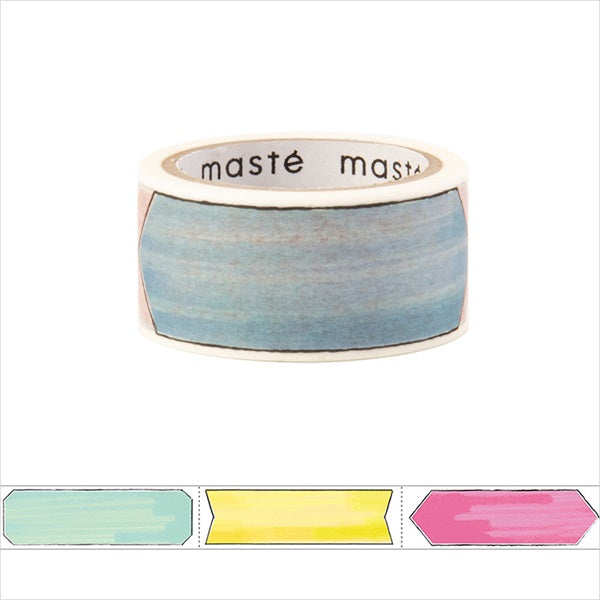 Marker Title Masté Washi Tape for Journal. Use this easy-to-write-on washi tape to add decorative dates to your journal, planner and notebook. Unlike typical washi tape, this tape can be written on with ordinary water-based pens.