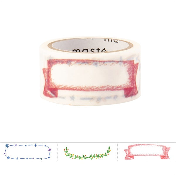 Illustration Title Masté Washi Tape for Journal. Use this easy-to-write-on washi tape to add decorative dates to your journal, planner and notebook. Unlike typical washi tape, this tape can be written on with ordinary water-based pens.