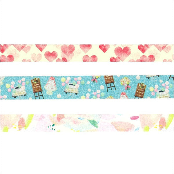 Amazing Life 1 Washi Tape Set (3/pkg) Masté Masking Tape