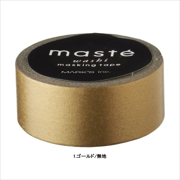 Impressive Tone Gold Masté Japanese Masking Tape • Made in Japan.