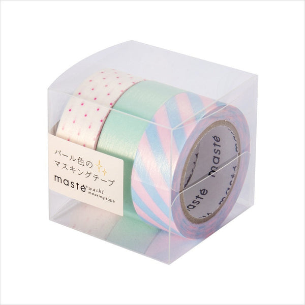 Pearl D masté 3 Pieces Set Japanese Pearl Washi Tape