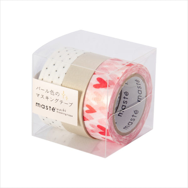 Pearl C masté 3 Pieces Set Japanese Washi Tape
