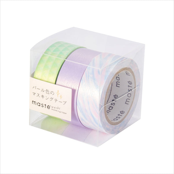 Pearl E masté 3 Pieces Set Japanese Pearl Washi Tape