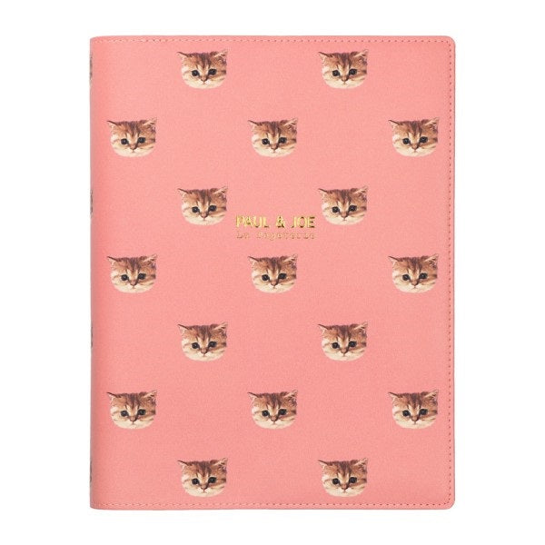 PAUL & JOE La Papeterie A5 Cat Nounette Pink Ring Binder Planner