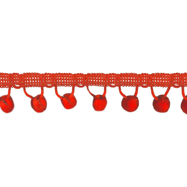 Orange Ball Fringe / Pom Pom Fringe. Colorful, playful accent for children's apparel, costumes, accessories and home decor. Hand washable.