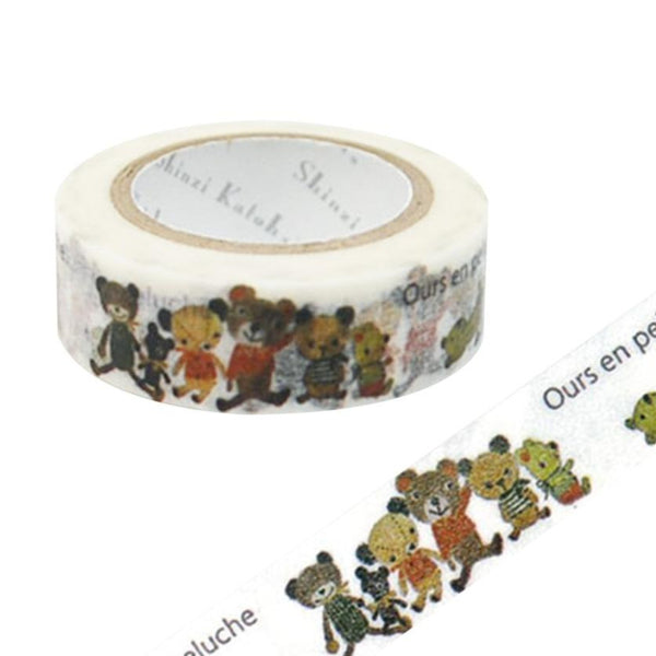 Bear Ours En Peluche Masking Tape • Shinzi Katoh Design Japanese Washi Tape