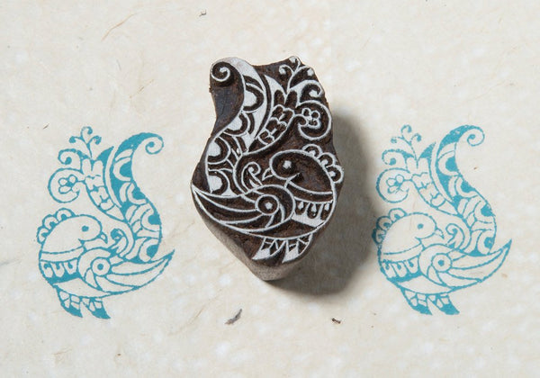 Palace Bird Blockwallah Block Stamp