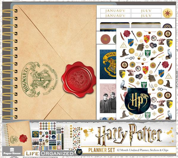 There's only one word to describe this Harry Potter mini planner set: magical! This 12 month undated mini planner set has everything that you need to get and stay organized, including all sorts of fun and functional stickers and a shiny foiled magnetic clip!