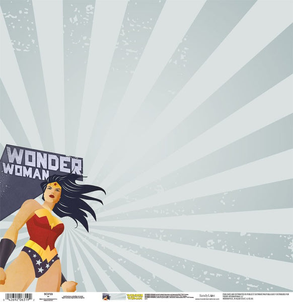 "Wonder Woman Scrapbook Paper 12""x 12"""