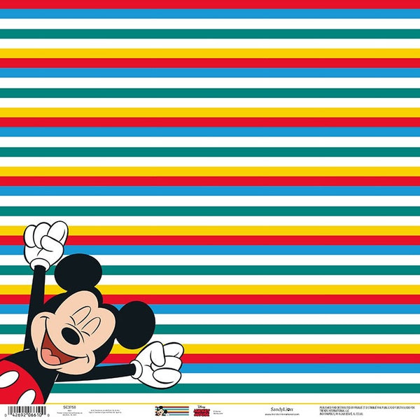"Mickey Mouse Scrapbooking Paper 12""x 12""  Made in the USA  Acid & Lignin Free"