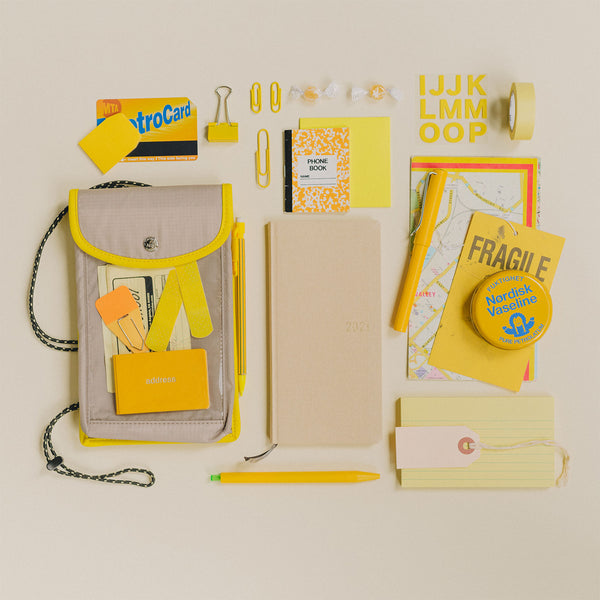 Hobonichi 2021 Weeks Case Mokku (Gray x Yellow)