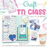 Come join us at our store @littlecraftplace on July 11 at 6:30pm for a 2 hour TN class!  We will be making a 4 page memory keeping spread, some journal cards, a bookmark and a tag.  You will get an Echo Park kit and TN standard insert.  Also included is the use of our washi tapes and stamps.  Bring a couple pictures and a friend for a fun girls night out. Snacks and drinks will be served too! Space is limited so sign up quickly!  Hope to see you there.