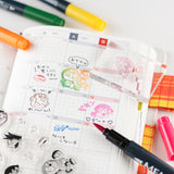 Hobonichi 2021 Doraemon's Clear Stamps (How is your day?)